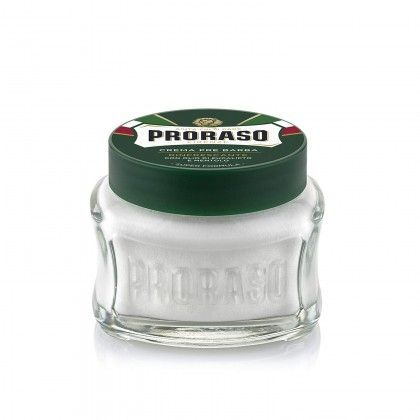 Proraso Green Pre & Post Shave Cream 100ml, 300ml Eucalyptus Oil and Menthol Refreshing and Toning Preshave Cream