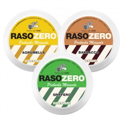 Rasozero Preshave Cream 100ml (Spiffero Green/ Agrumella Yellow/ Barbacco Brown)